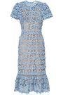 MICHAEL MICHAEL KORS Floral-appliquéd cotton-crochet dress