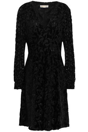 MICHAEL MICHAEL KORS Metallic devoré dress