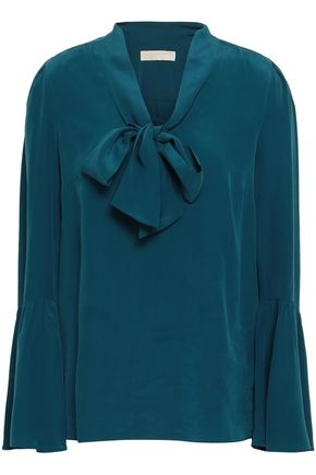 MICHAEL MICHAEL KORS Draped washed-silk blouse