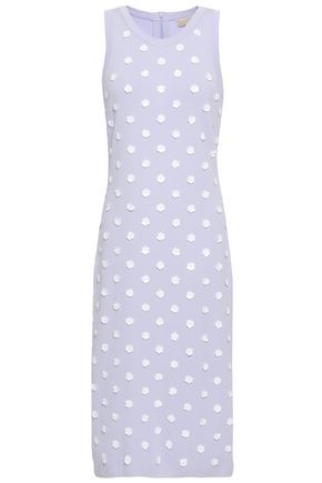 MICHAEL MICHAEL KORS Floral-appliquéd stretch-knit dress