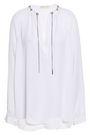MICHAEL MICHAEL KORS Chain-embellished silk crepe de chine blouse