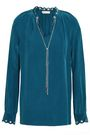 MICHAEL MICHAEL KORS Chain-embellished washed-silk blouse