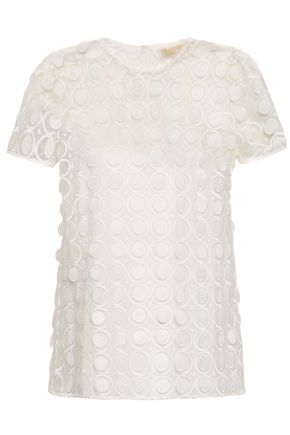 23a2bcd037384 MICHAEL MICHAEL KORS Embroidered tulle top