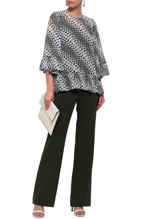 MICHAEL MICHAEL KORS Ruffled floral-print georgette blouse