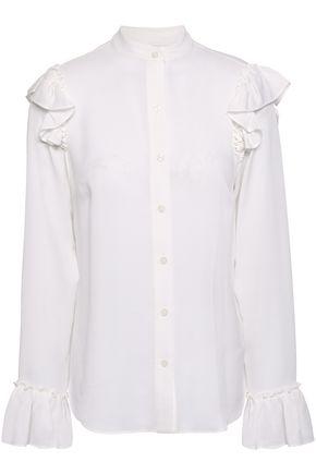 a4325172d8b6bd MICHAEL MICHAEL KORS Ruffle-trimmed silk blouse