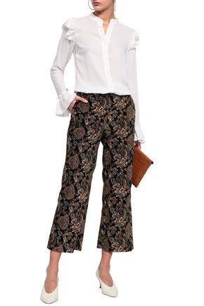 8be20a9687c998 MICHAEL MICHAEL KORS Ruffle-trimmed silk blouse