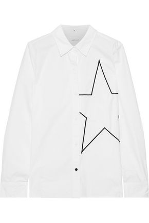 CURRENT/ELLIOTT The Elenora embroidered cotton-poplin shirt