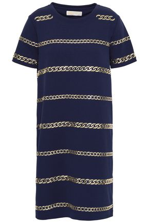 MICHAEL MICHAEL KORS Chain-embellished stretch-crepe mini dress