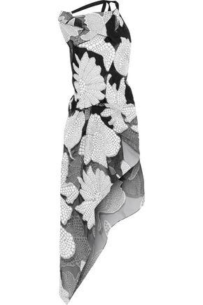 ROLAND MOURET Landi asymmetric fil coupé cotton-blend top