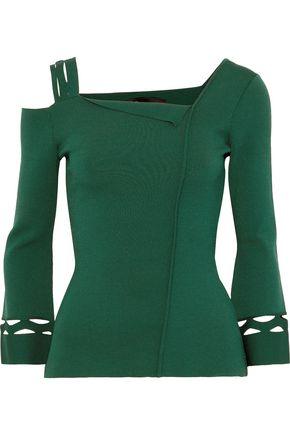 ROLAND MOURET Newsholme cutout stretch-knit top