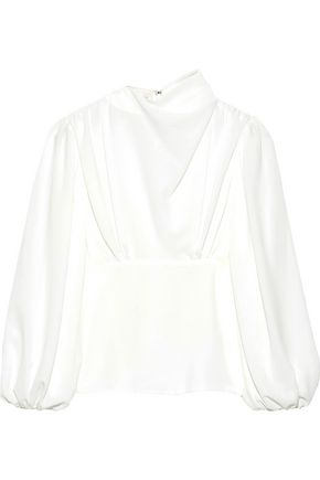 EMILIA WICKSTEAD Ronan gathered crepe de chine blouse