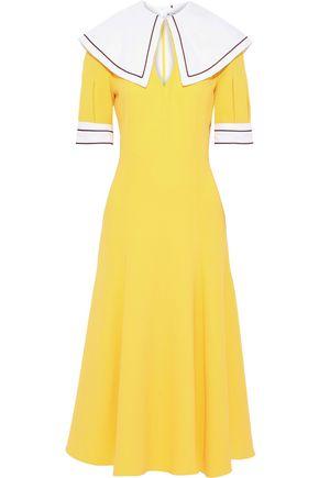 EMILIA WICKSTEAD Sabine wool-crepe midi dress