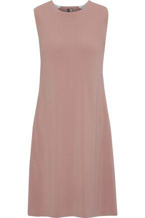 NORMA KAMALI Jersey-trimmed cady mini dress