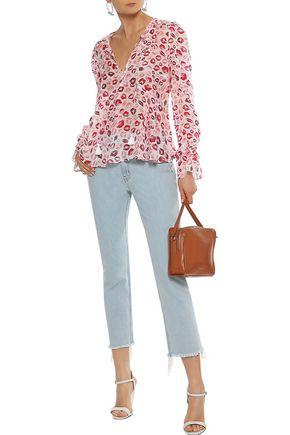 RACHEL ZOE Bria printed silk-chiffon blouse