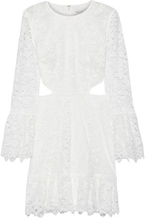 RACHEL ZOE Isabel cutout guipure lace mini dress