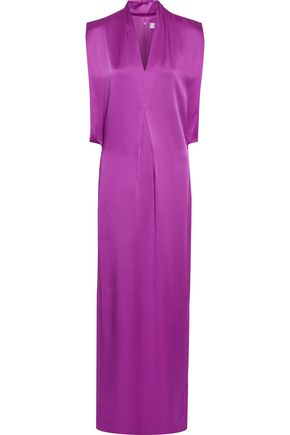 CHALAYAN Pleated satin-crepe gown