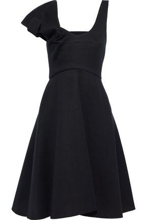 CHALAYAN Cold-shoulder flared modal-scuba dress