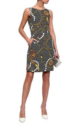 MOSCHINO Printed crepe mini dress