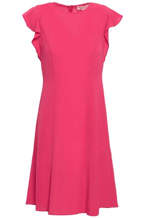 MICHAEL MICHAEL KORS Ruffle-trimmed crepe mini dress