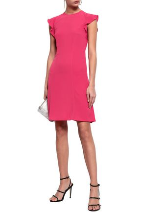 MICHAEL MICHAEL KORS Ruffle-trimmed crepe mini dress