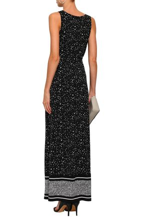 MICHAEL MICHAEL KORS Belted floral-print stretch-jersey maxi dress