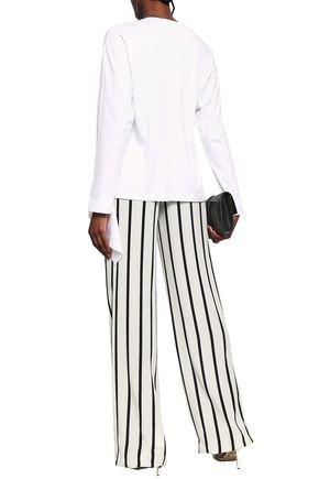 CEDRIC CHARLIER Draped cotton-jersey top