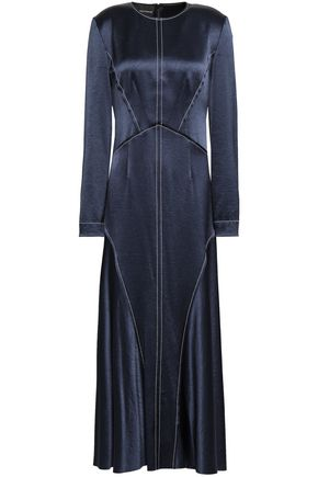 CEDRIC CHARLIER Brushed-satin midi dress