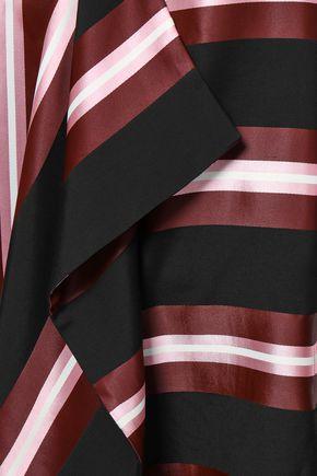 CEDRIC CHARLIER Striped jacquard midi dress