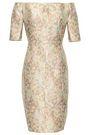 J.MENDEL Off-the-shoulder metallic brocade dress