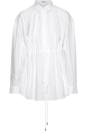 CHALAYAN Gathered cotton-poplin shirt