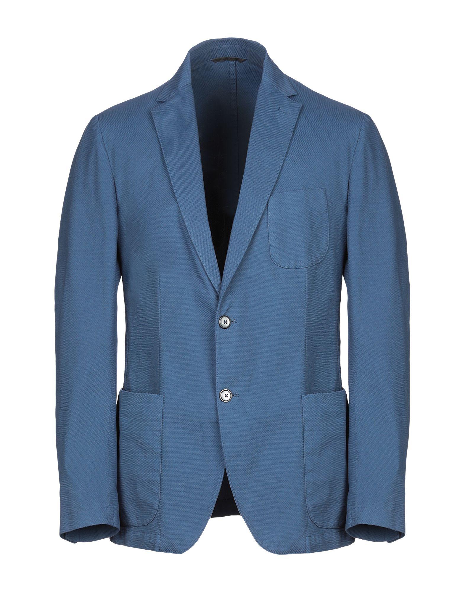 《期間限定セール開催中!》DOUBLE EIGHT メンズ テーラードジャケット ブルーグレー 54 コットン 98% / ポリウレタン 2%