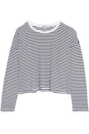 ALEXANDER WANG Striped cotton-jersey top