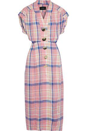 PAPER London Marrakech checked twill midi dress