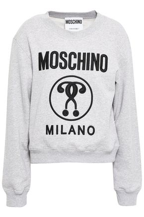 MOSCHINO Embroidered French cotton-terry sweatshirt
