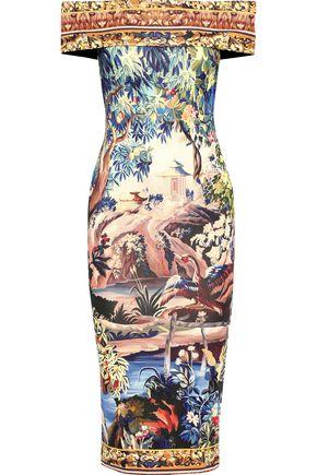 MARY KATRANTZOU Ireson off-the-shoulder printed stretch-jersey midi dress
