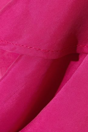 PAPER London Maeva one-shoulder ruffled washed-twill midi dress