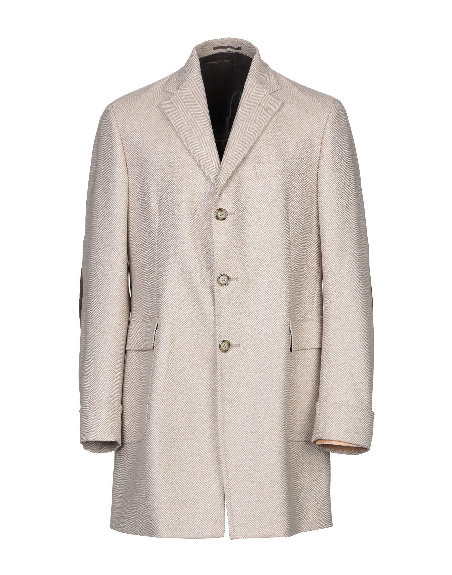 《セール開催中》DORIANI メンズ コート ベージュ 46 カシミヤ 100% / 革
