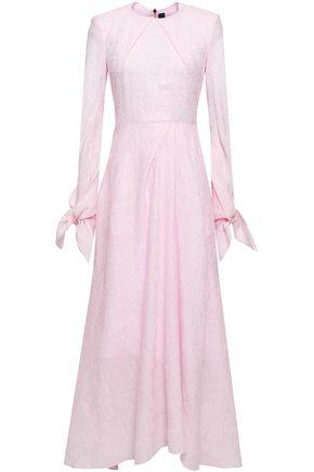ROLAND MOURET Taylor silk-blend cloqué midi dress