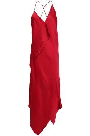ROLAND MOURET Jimboy open-back hammered silk-satin midi dress