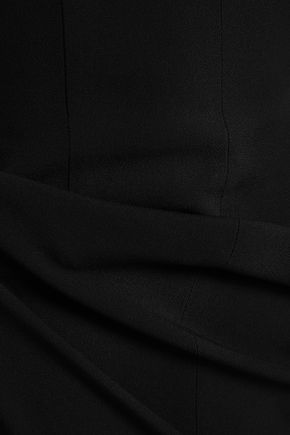 ALBERTA FERRETTI Satin-crepe peplum midi dress