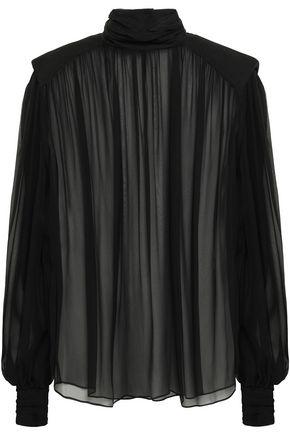 ALBERTA FERRETTI Silk-chiffon blouse