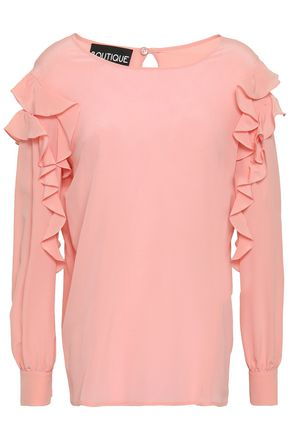 BOUTIQUE MOSCHINO Ruffled silk crepe de chine blouse