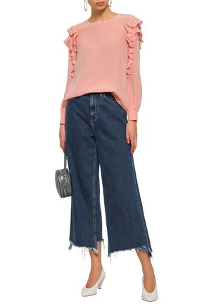 BOUTIQUE MOSCHINO Ruffled silk crepe de chine blouse