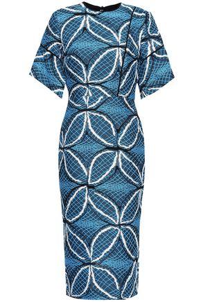 ROLAND MOURET Cotton-blend jacquard dress