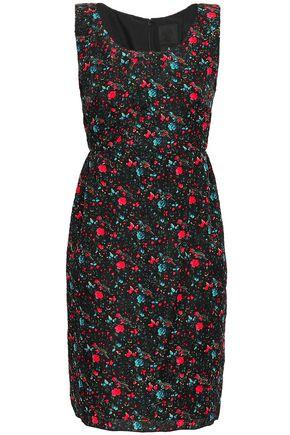 ANNA SUI Floral-print silk-blend cloqué mini dress