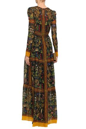 PHILOSOPHY di LORENZO SERAFINI Gathered printed chiffon maxi dress