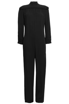 PHILOSOPHY di LORENZO SERAFINI Broderie anglaise-trimmed crepe jumpsuit