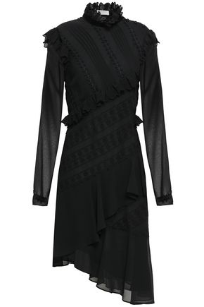PHILOSOPHY di LORENZO SERAFINI Asymmetric broderie anglaise georgette dress