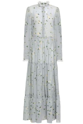 PHILOSOPHY di LORENZO SERAFINI Tiered floral-print chiffon maxi dress