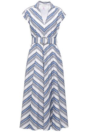 GÜL HÜRGEL Striped linen and cotton-blend midi dress
